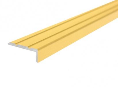 Schodová lišta samolepiaca Zlatá E00 25 x 10 x 900