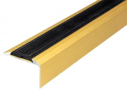 Schodová hrana protišmyková 30 x 46 Zlatá E00