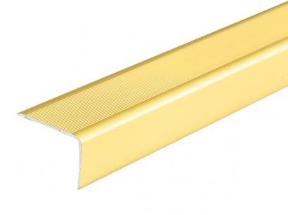 Schodová lišta samolepiaca Zlatá E00