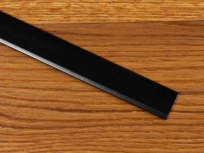 Prechodová lišta samolepiaca plochá Küberit Čierna F16
