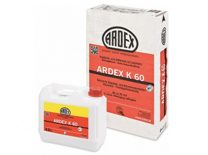Ardex K 60 dvojzložková samonivelizačná hmota na báze latexu