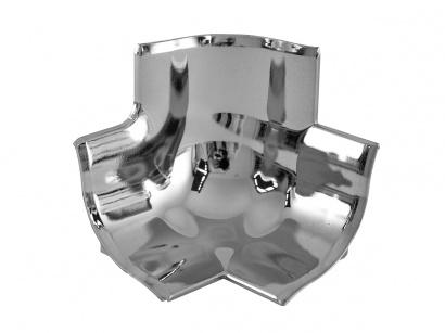 Rohové spojenie 3 rohov GBL/40/T polypropylén Strieborné