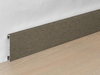 Hliníková podlahová lišta 89/6 I Design Hnedá tmavá 60 mm