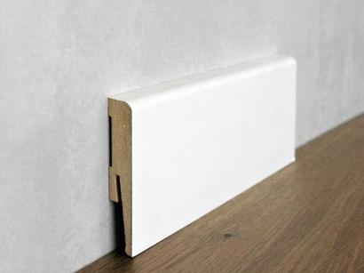Podlahová soklová lišta Biela Paint it Bullnose 15 x 80 MP0801