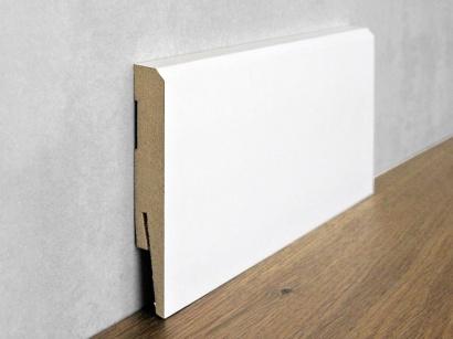 Podlahová soklová lišta Biela Paint it Bevelled 15 x 100 MP1001