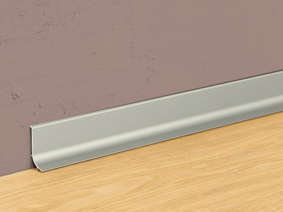 Hliníková podlahová lišta samolepiaca Inox Q64