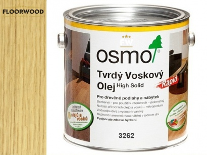 Osmo 3262 Rapid tvrdý voskový olej mat rychloschnúci