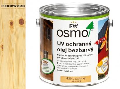 Osmo 420 Extra UV ochranný olej na fasády bezfarebný
