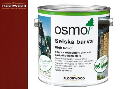 Osmo 2308 Vidiecka farba na drevo Nordicky červená