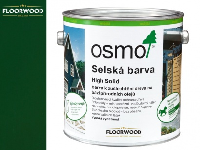 Osmo 2404 Vidiecka farba na drevo Jedľovo zelená