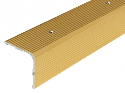 Schodová lišta skrutková 30 x 30 x 2700 Zlatá PS3