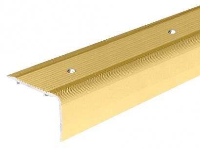 Schodová lišta skrutková 40 x 25 Zlatá PS4