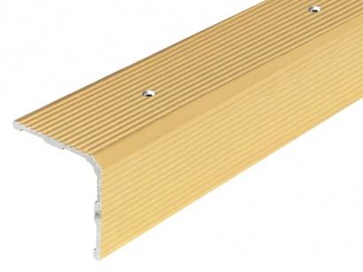 Schodová lišta skrutková 30 x 30 Zlatá PS3