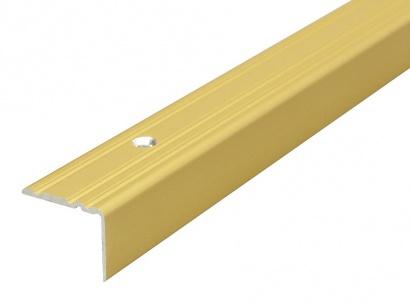 Schodová lišta skrutková 25 x 20 x 1800 Zlatá PS2