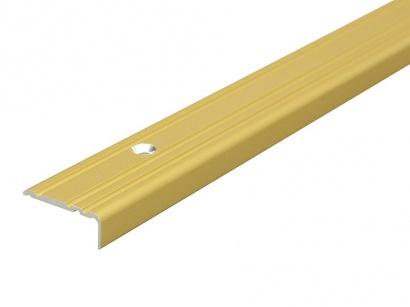 Schodová lišta skrutková 25 x 10 Zlatá PS1