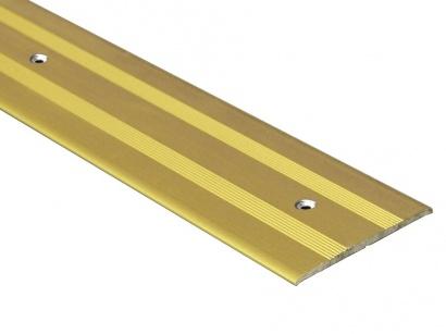 Prechodová lišta skrutková plochá Zlatá E00