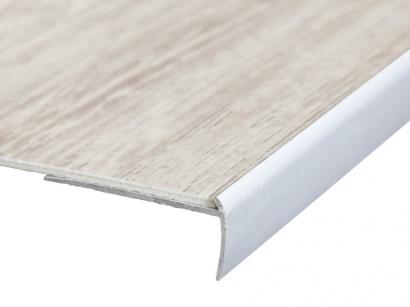 Schodová lišta na vinyl PVC a koberce Strieborná E01