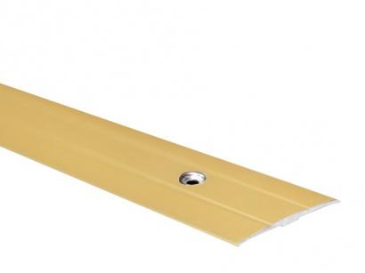 Prechodová lišta skrutková plochá PR6 Zlatá