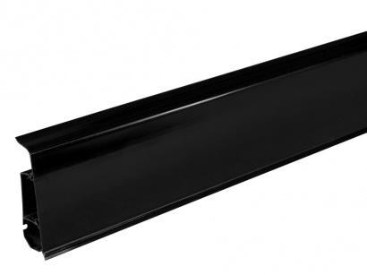 Podlahová lišta pre vedenie káblov LM70 Arbiton INDO 18 Čierna lesklá