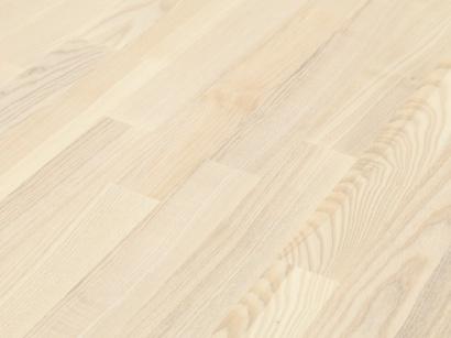 Drevená podlaha Jaseň classic biely parketa
